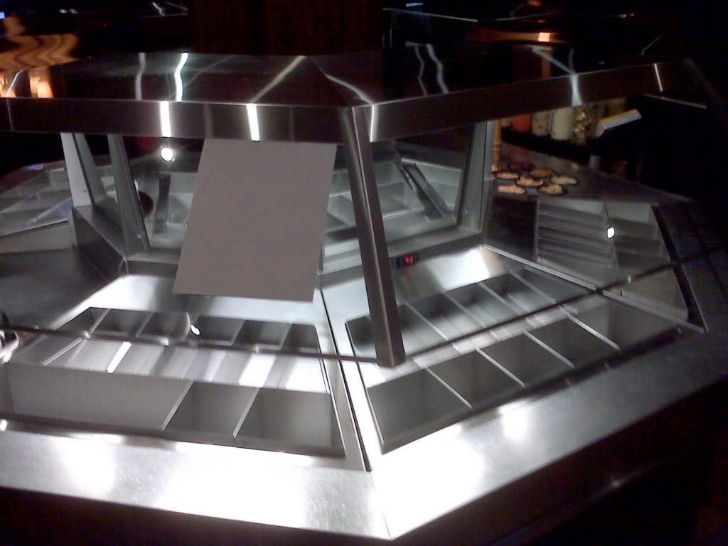 Stainless Steel Salad Bar Central Sheet Metal